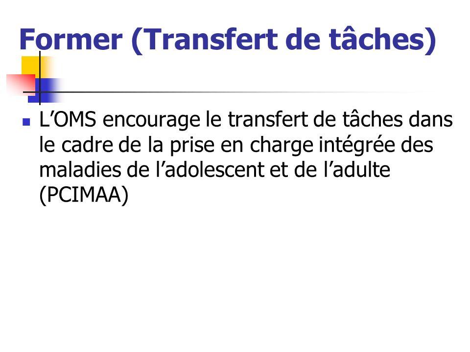 Former (Transfert de tâches) LOMS encourage le transfert de tâches dans le cadre de la prise en charge intégrée des maladies de ladolescent et de ladu