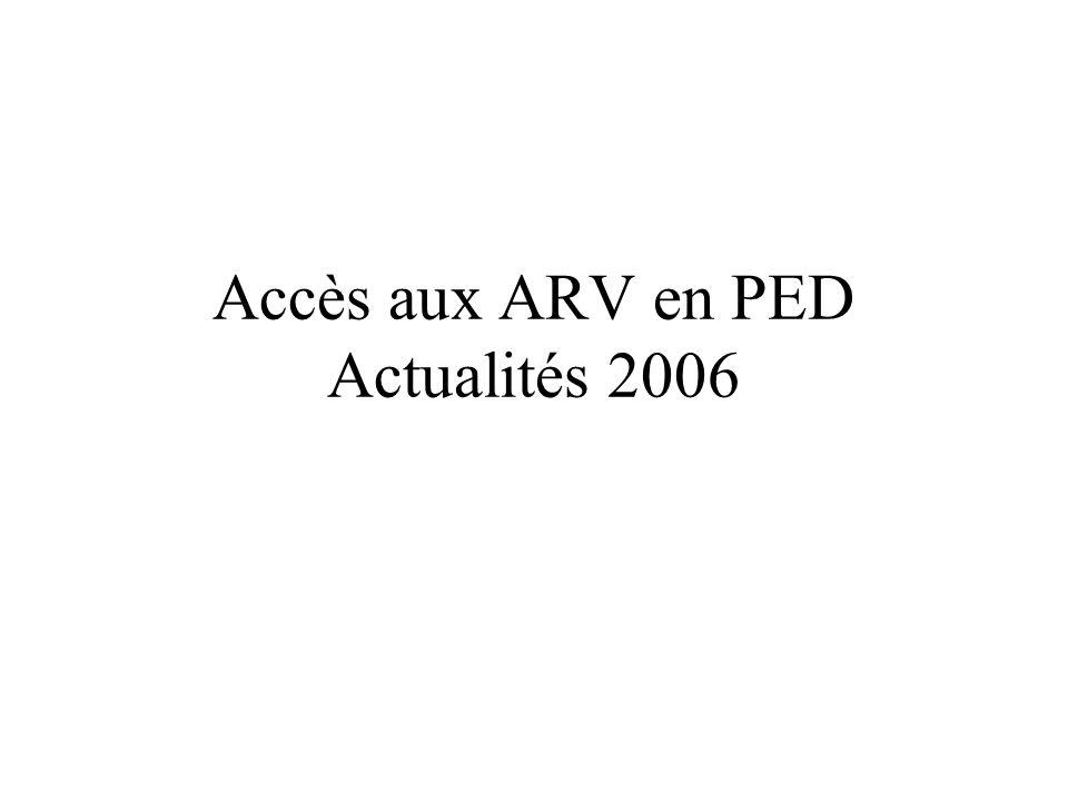 Accès aux ARV en PED Actualités 2006