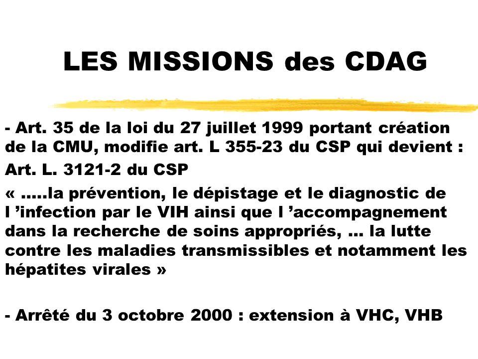 LES MISSIONS des CDAG - Art.