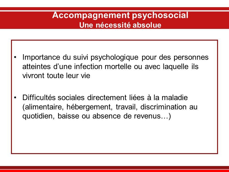 Accompagnement psychosocial Une nécessité absolue Importance du suivi psychologique pour des personnes atteintes dune infection mortelle ou avec laque