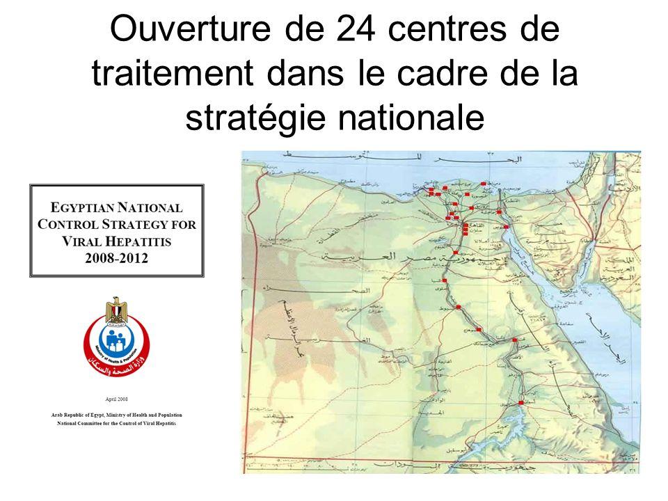 Ouverture de 24 centres de traitement dans le cadre de la stratégie nationale