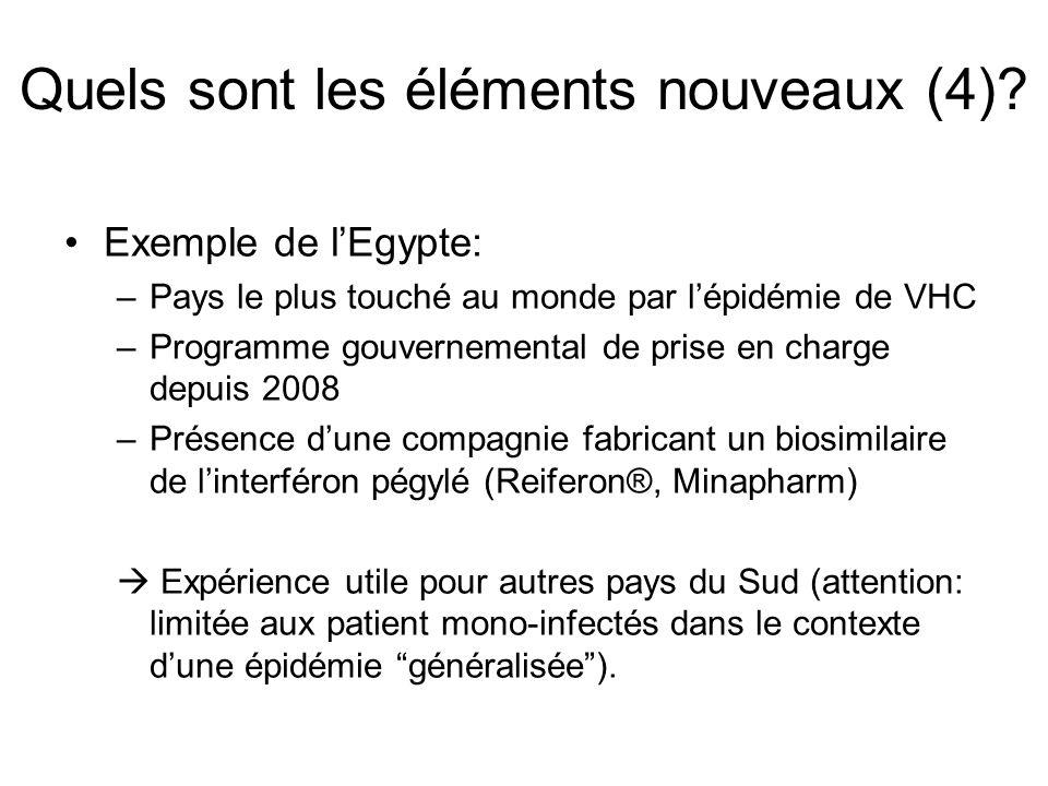 Exemple de lEgypte: –Pays le plus touché au monde par lépidémie de VHC –Programme gouvernemental de prise en charge depuis 2008 –Présence dune compagn