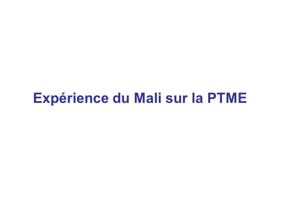 Expérience du Mali sur la PTME
