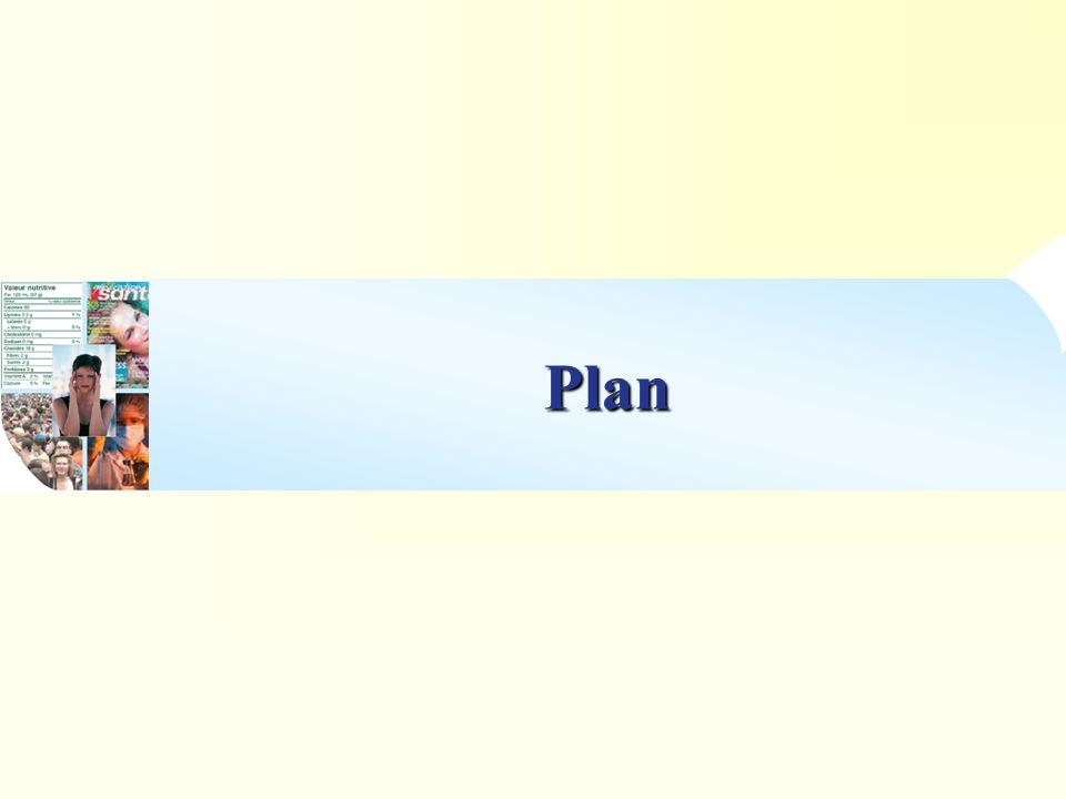 Stratégie de communication Réglementaires/J uridiques Scientifiques Sociologiques Croyances alimentaires Géographiques Socio-économiques (besoin/ classe sociale) Socio- professionnels Environnementales … Perception du consommateur Comportements alimentaires … Données dentrée = Contraintes Données de sortie IV I II III