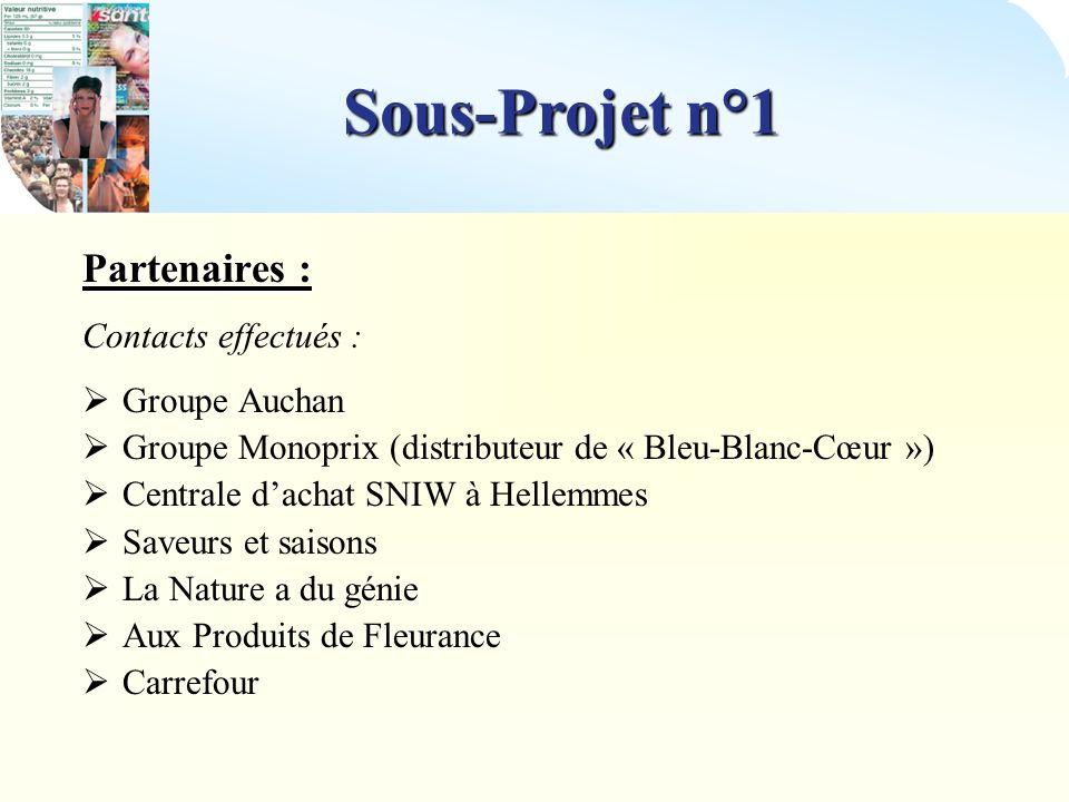 Sous-Projet n°1 Partenariat envisagé avec : Saveurs et Saisons Distributeur Responsable : Matthieu Fournier