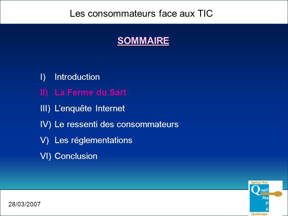 Les consommateurs face aux TIC 28/03/2007 La Ferme du Sart Que pensent les consommateurs.