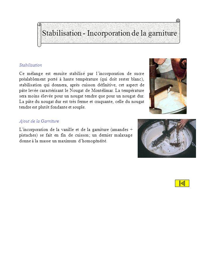 Cuisson - Foisonnement Cuisson Miel et sucre sont fondus dans les malaxeurs et la pâte obtenue est cuite au bain marie dans un chaudron de cuivre (en