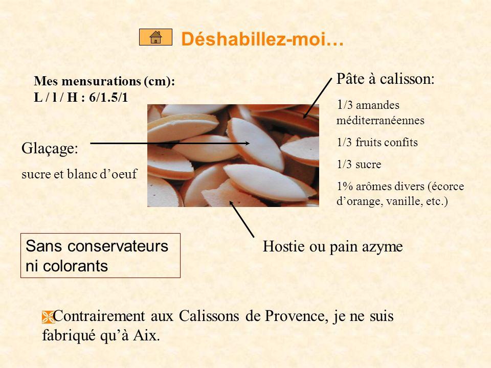 XII ème siècle : 1 ère apparition du calisson dans la région de Padoue, alors élaboré à partir damandes et de farine. XV ème siècle : introduction dun