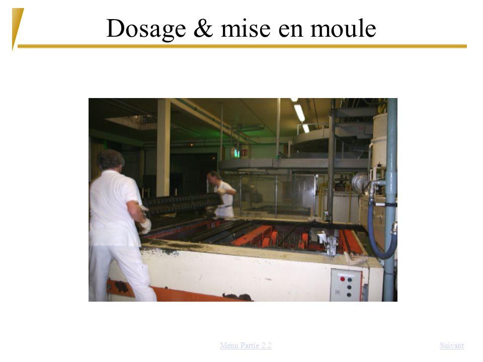 Dosage & mise en moule SuivantMenu Partie 2.2