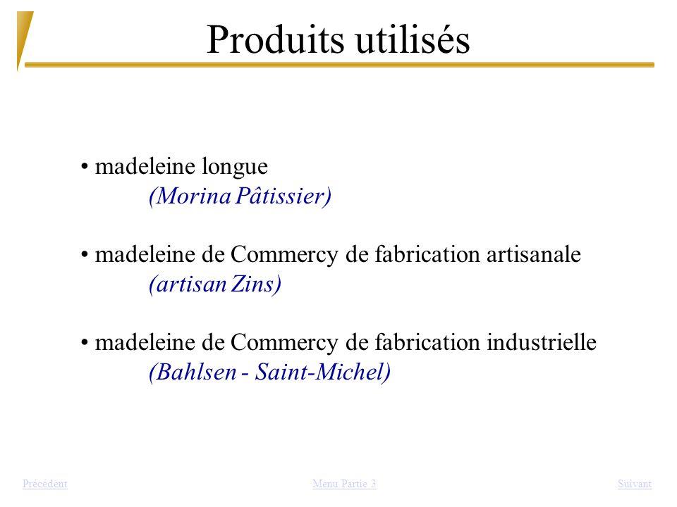 Produits utilisés SuivantPrécédent madeleine longue (Morina Pâtissier) madeleine de Commercy de fabrication artisanale (artisan Zins) madeleine de Com