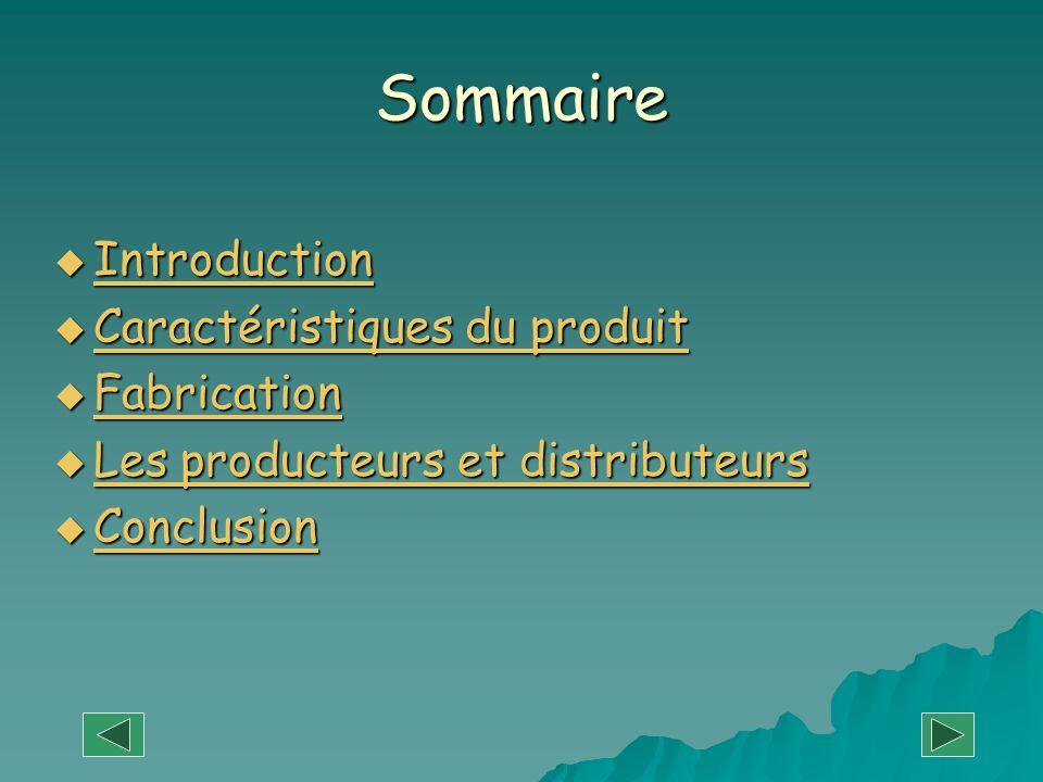Sommaire Introduction Introduction Introduction Caractéristiques du produit Caractéristiques du produit Caractéristiques du produit Caractéristiques d