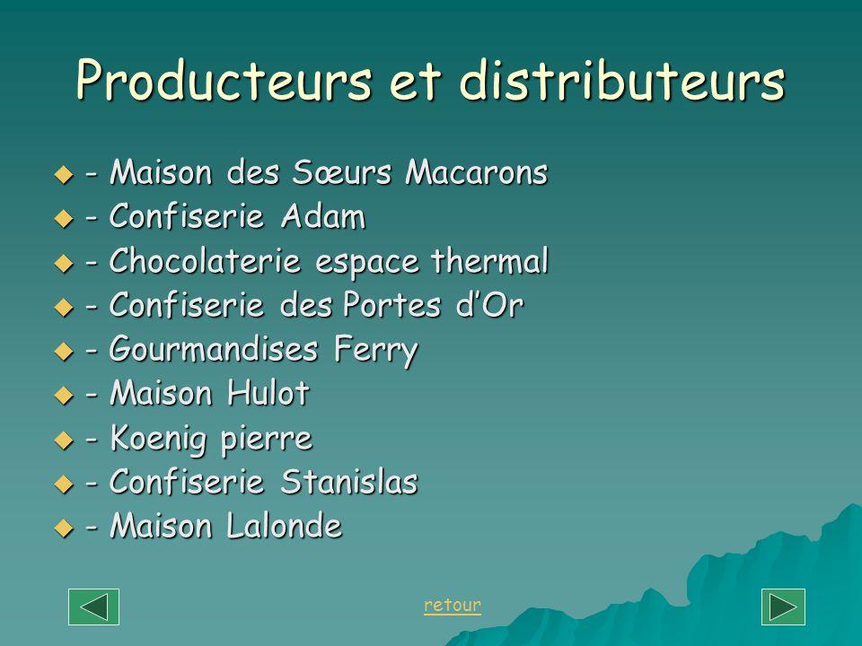 Producteurs et distributeurs - Maison des Sœurs Macarons - Maison des Sœurs Macarons - Confiserie Adam - Confiserie Adam - Chocolaterie espace thermal