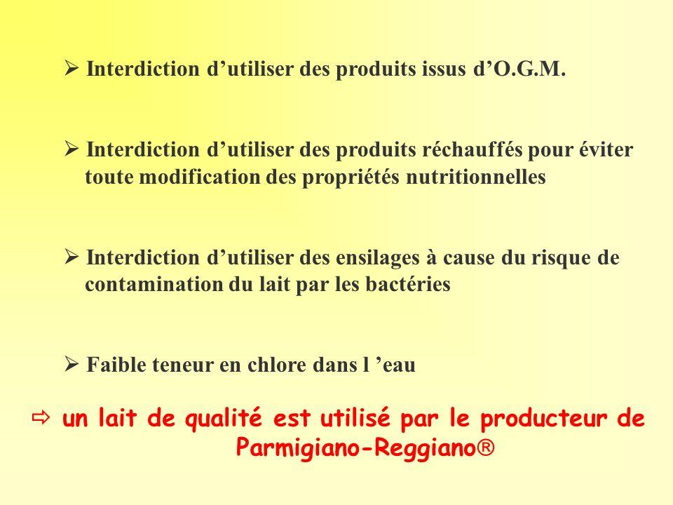 Interdiction dutiliser des produits issus dO.G.M. Interdiction dutiliser des produits réchauffés pour éviter toute modification des propriétés nutriti