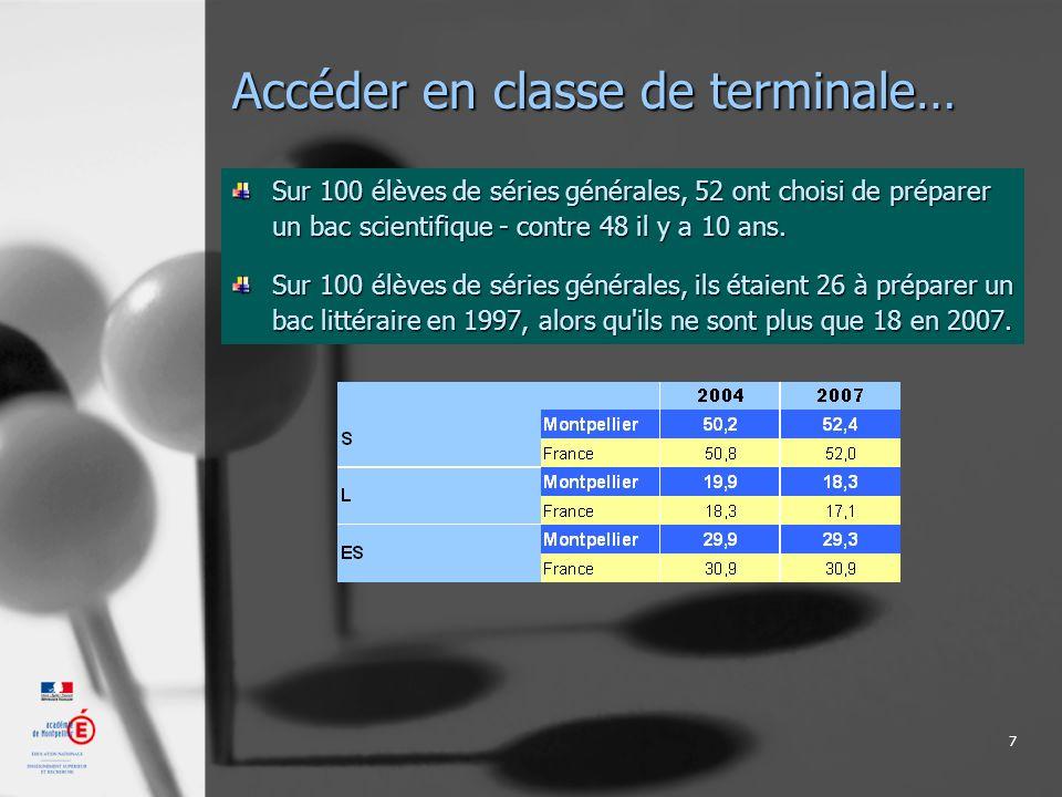 8 Accéder en classe de terminale… Les séries Sciences et Technologies Industrielles sont en perte de vitesse...