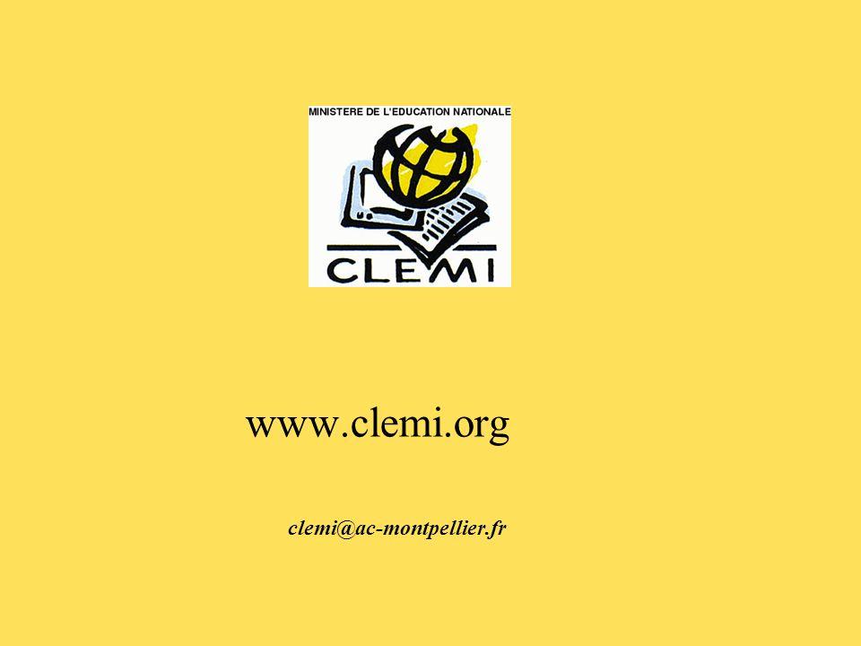 www.clemi.org clemi@ac-montpellier.fr
