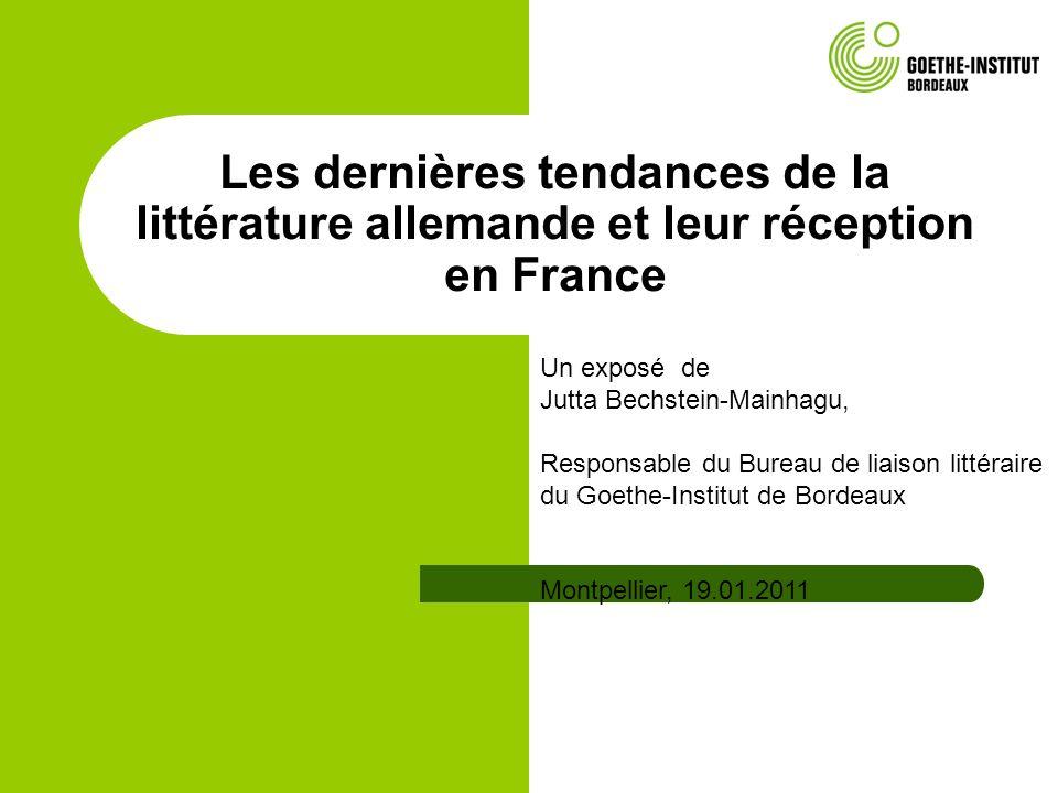 Montpellier, 19.01.2011 Jutta Bechstein-Mainhagu, Bureau de liason littéraire, Goethe-Institut Bordeaux La littérature des migrants Sofronieva, Tveta: Diese Stadt kann auch weiß sein.