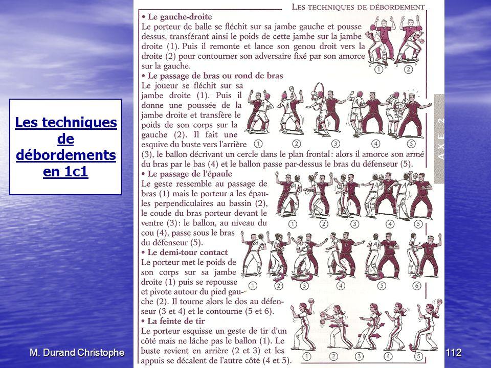 M. Durand Christophe25 novembre 2010112 Les techniques de débordements en 1c1