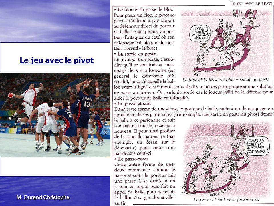 M. Durand Christophe25 novembre 2010114 Le jeu avec le pivot