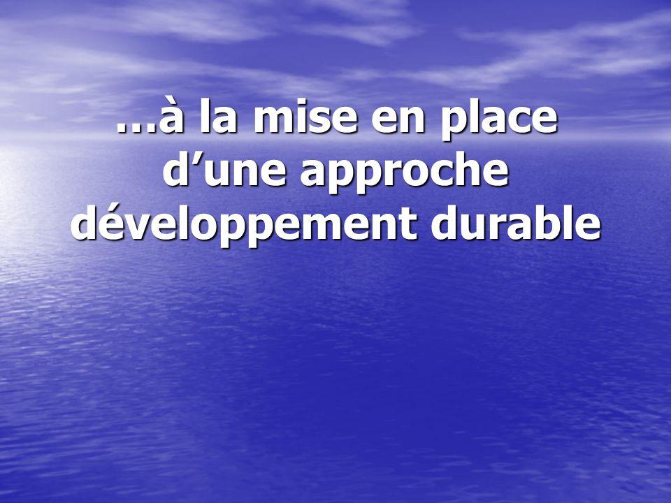 …à la mise en place dune approche développement durable