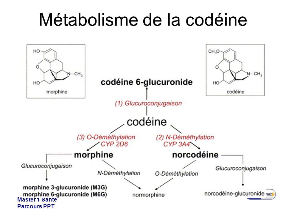 Master 1 Santé Parcours PPT Métabolisme de la codéine