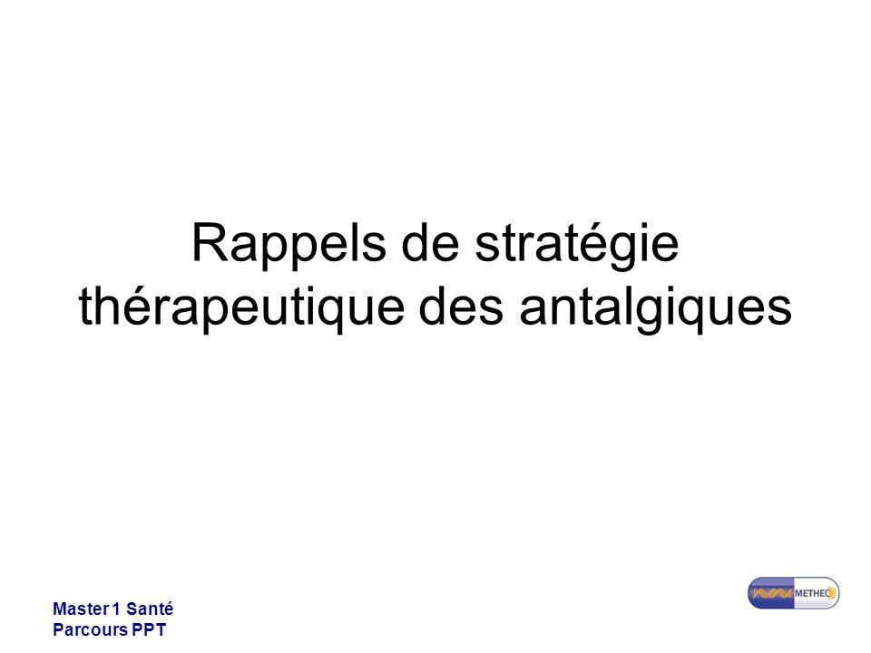 Master 1 Santé Parcours PPT Rappels de stratégie thérapeutique des antalgiques