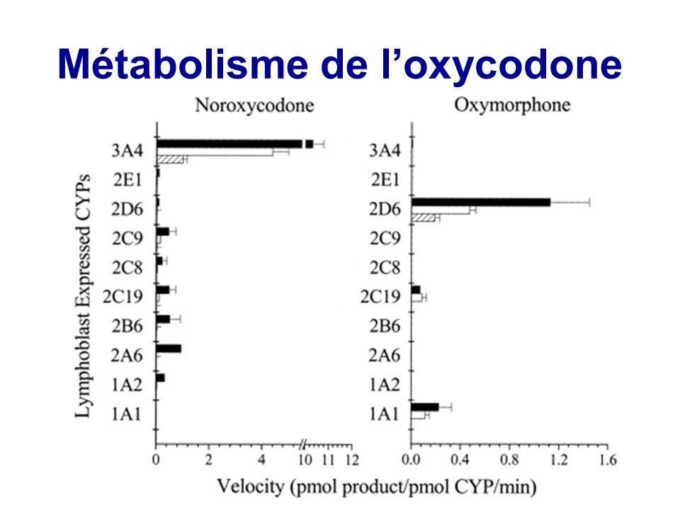 Métabolisme de loxycodone