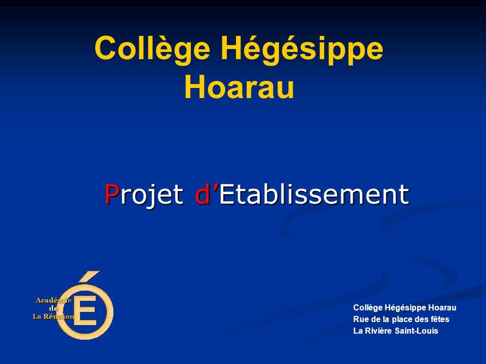 Projet Collège Hégésippe Hoarau Rue de la place des fêtes La Rivière Saint-Louis Collège Hégésippe Hoarau dEtablissement