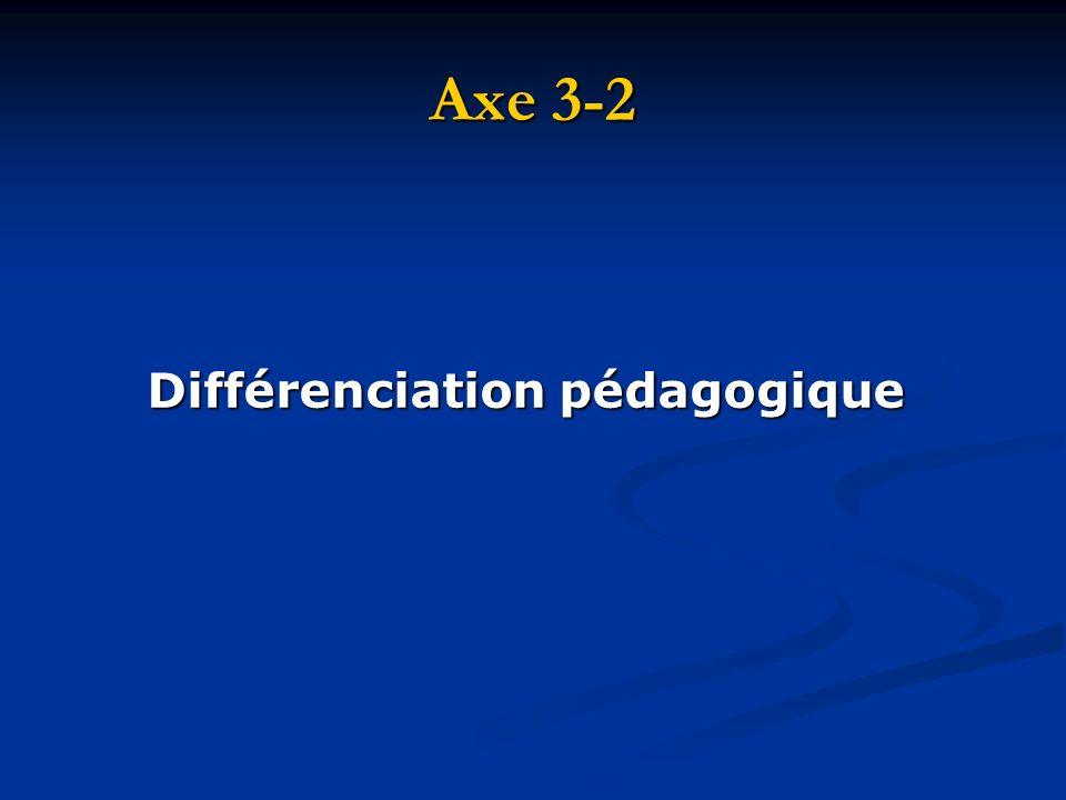 Axe 3-2 Différenciation pédagogique