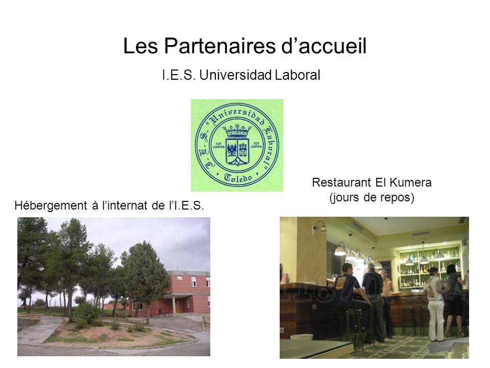 Les Partenaires daccueil I.E.S. Universidad Laboral Hébergement à linternat de lI.E.S.