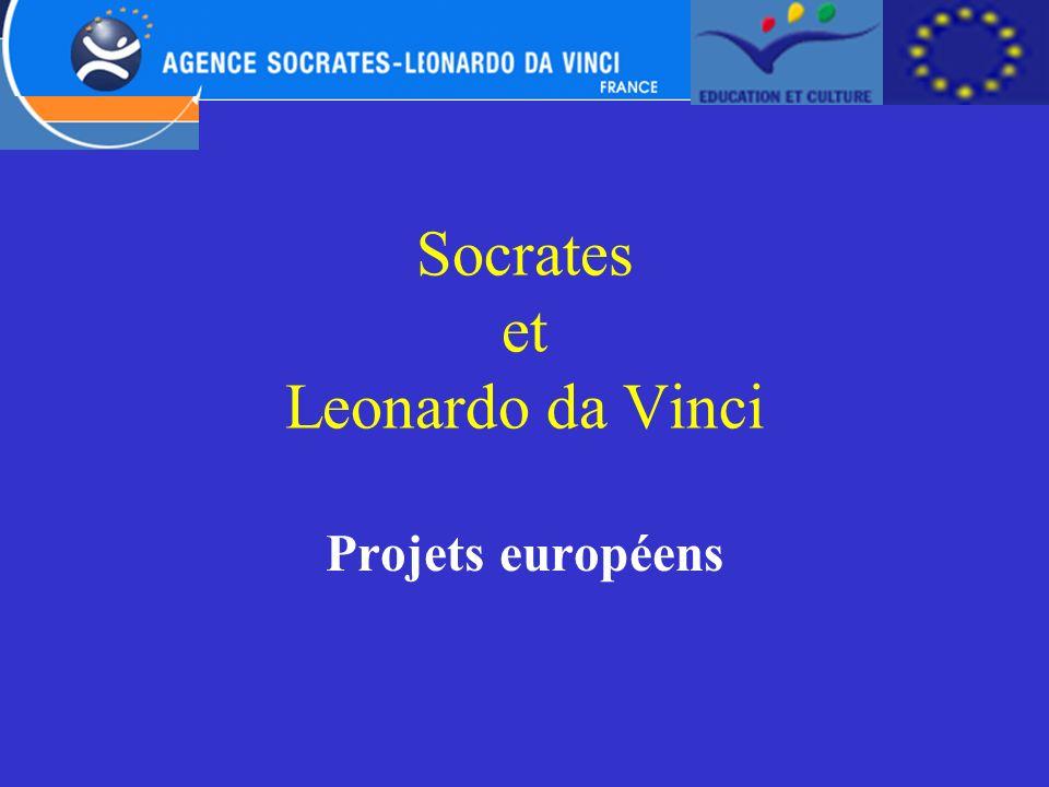 Socrates et Leonardo da Vinci Projets européens