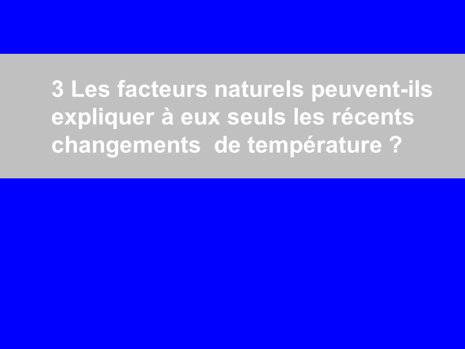 3 Les facteurs naturels peuvent-ils expliquer à eux seuls les récents changements de température ?