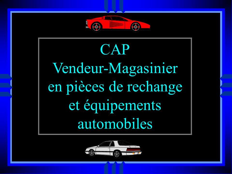 CAP Vendeur-Magasinier en pièces de rechange et équipements automobiles