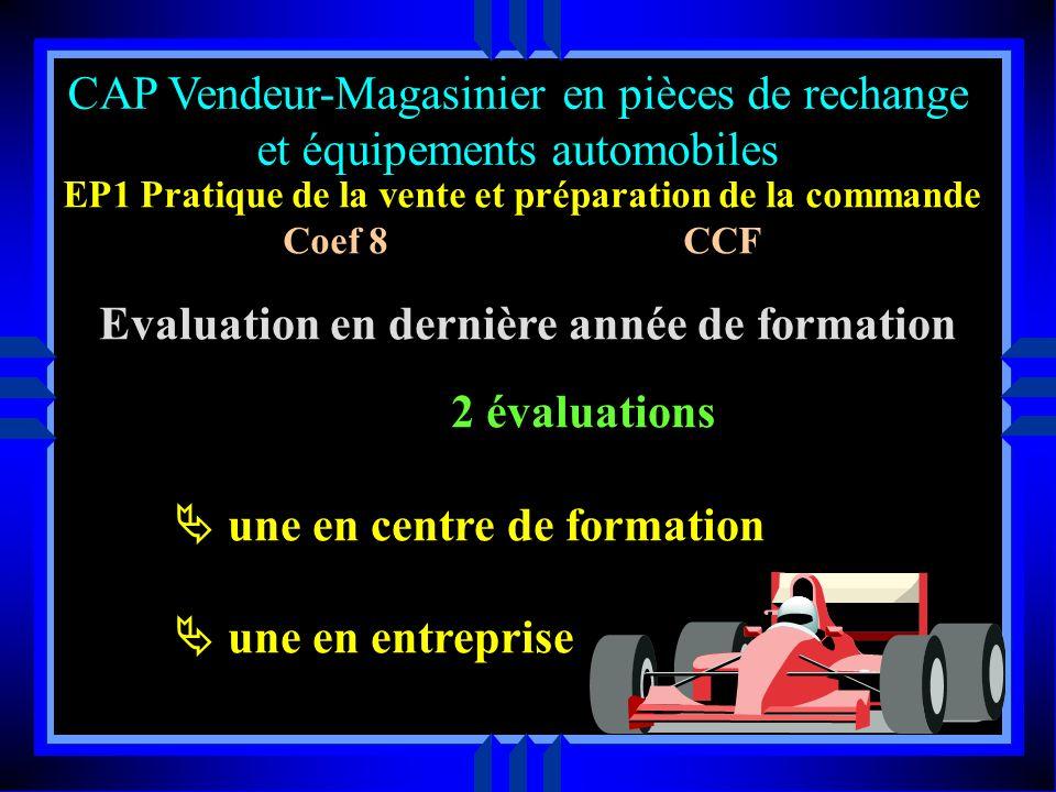 CAP Vendeur-Magasinier en pièces de rechange et équipements automobiles P F E contrat de formation organisée en complémentarité avec la formation disp
