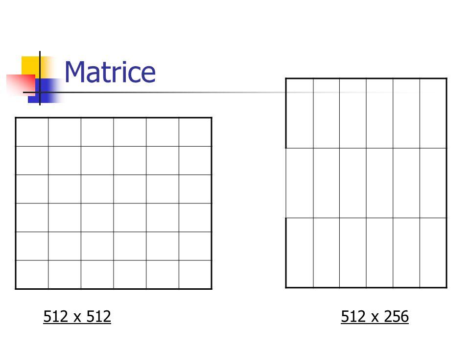 Matrice 512 x 512512 x 256