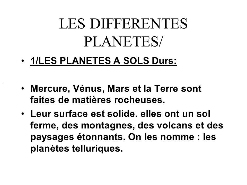 MERCURE: Mercure est la planète la plus proche du soleil.