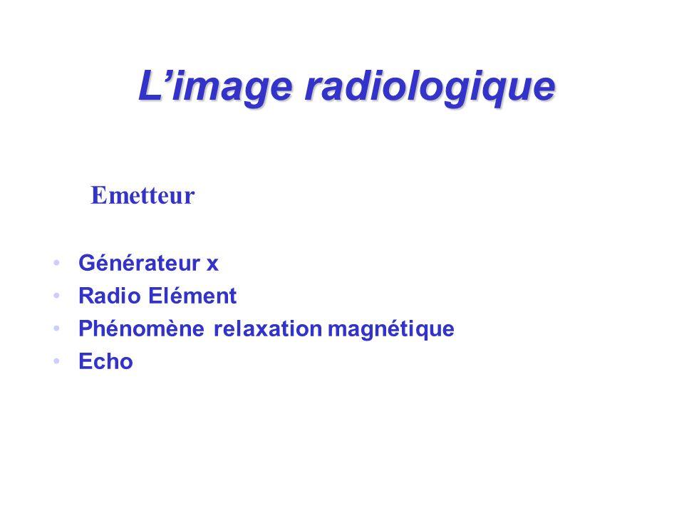 Emetteur Générateur x Radio Elément Phénomène relaxation magnétique Echo Limage radiologique