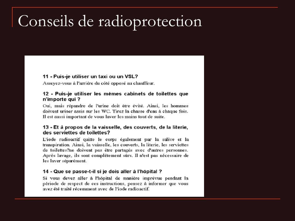 Conseils de radioprotection
