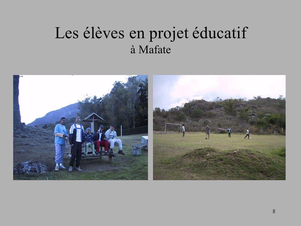 8 Les élèves en projet éducatif à Mafate
