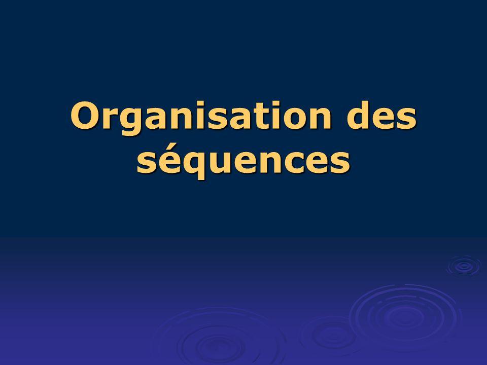 Organisation des séquences