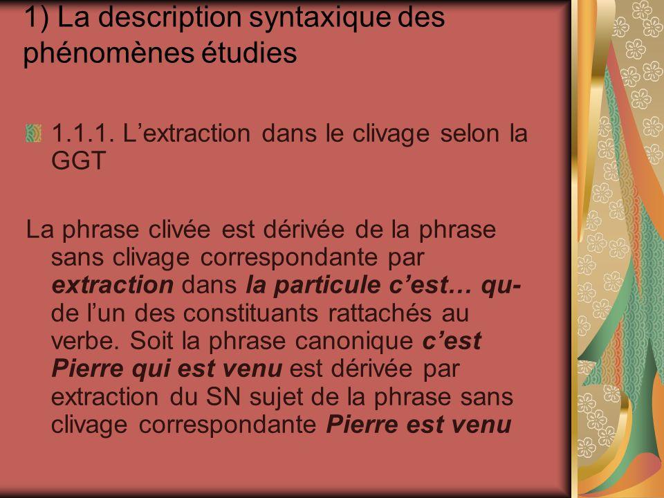 1.2.3.La dislocation dun pronom tonique : insistance pronominale Moi, je suis contre .