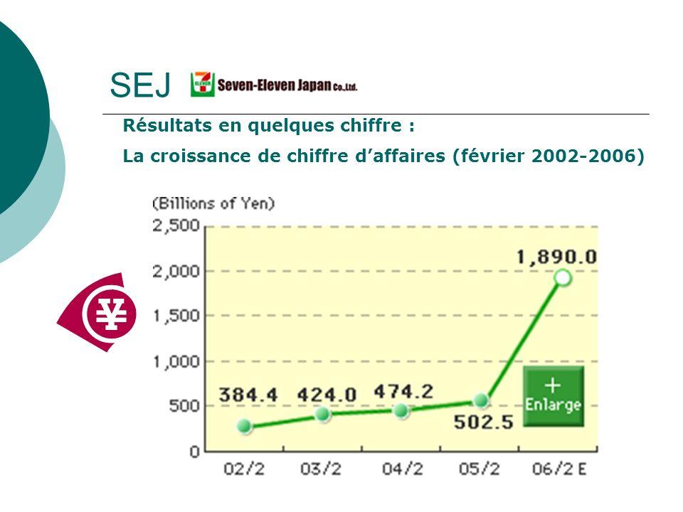 SEJ Résultats en quelques chiffre : La croissance de chiffre daffaires (février 2002-2006)