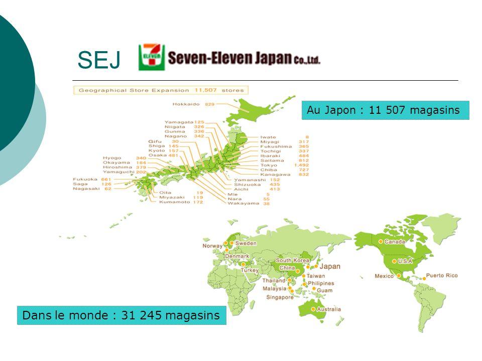 SEJ Dans le monde : 31 245 magasins Au Japon : 11 507 magasins