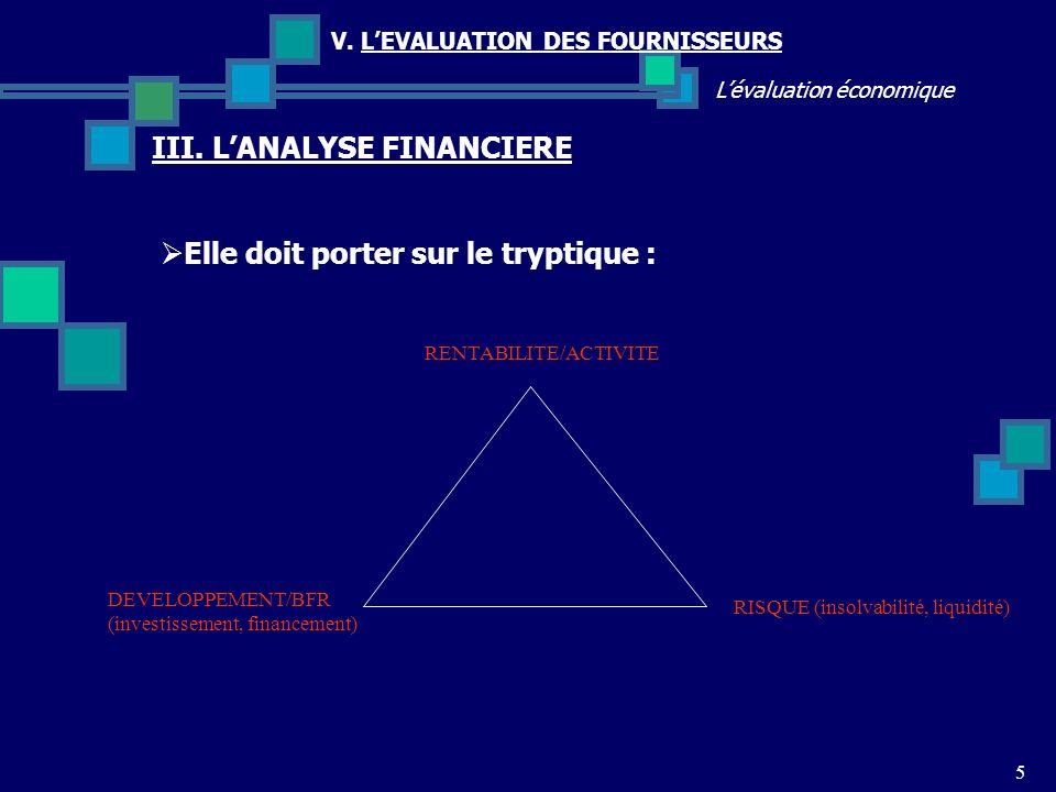 5 Lévaluation économique V.LEVALUATION DES FOURNISSEURS III.