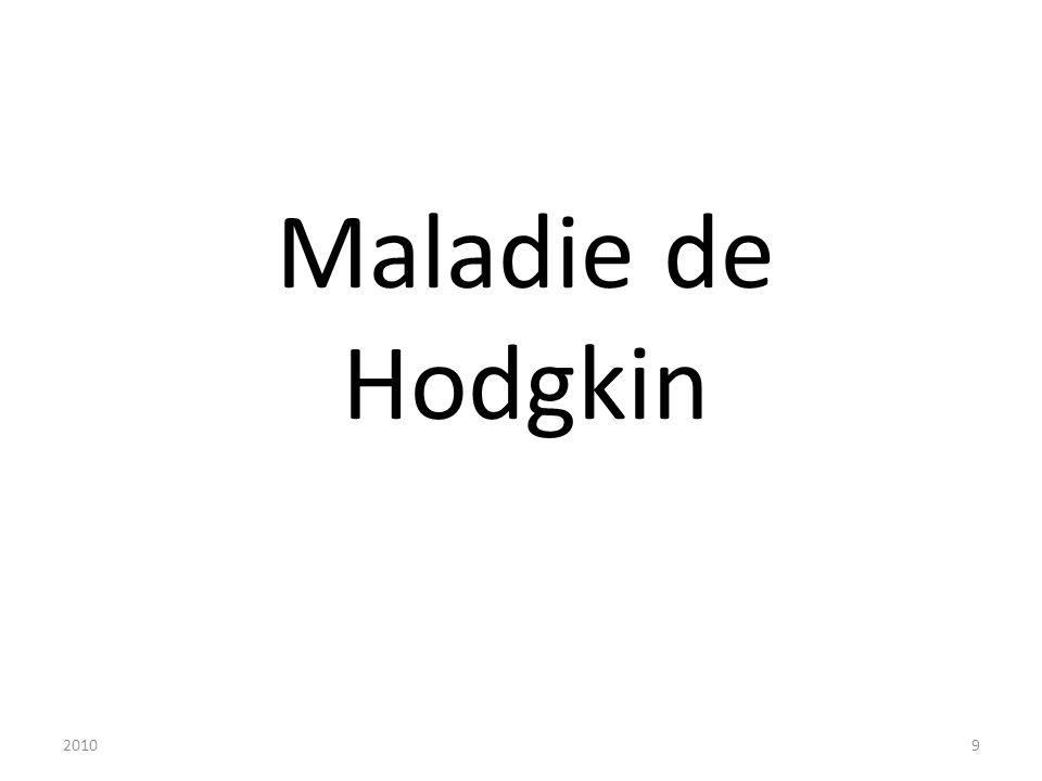 20109 Maladie de Hodgkin