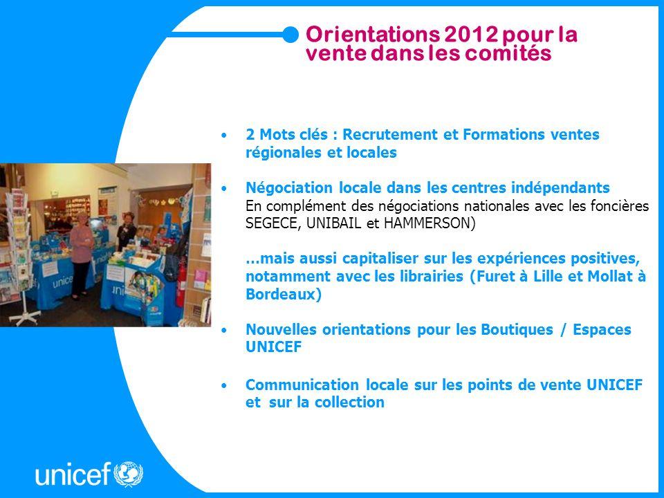 Orientations 2012 pour la vente dans les comités 2 Mots clés : Recrutement et Formations ventes régionales et locales Négociation locale dans les cent