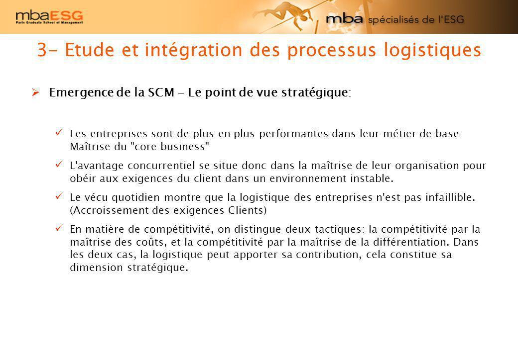 Emergence de la SCM - Le point de vue stratégique: Les entreprises sont de plus en plus performantes dans leur métier de base: Maîtrise du