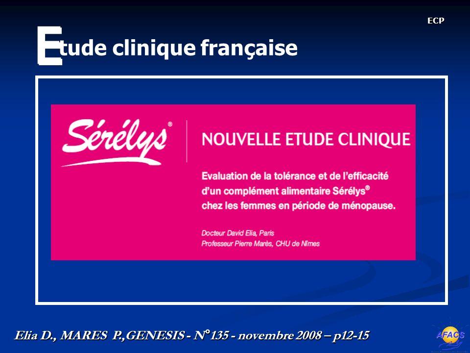 tude clinique française E E ECP Elia D., MARES P.,GENESIS - N°135 - novembre 2008 – p12-15