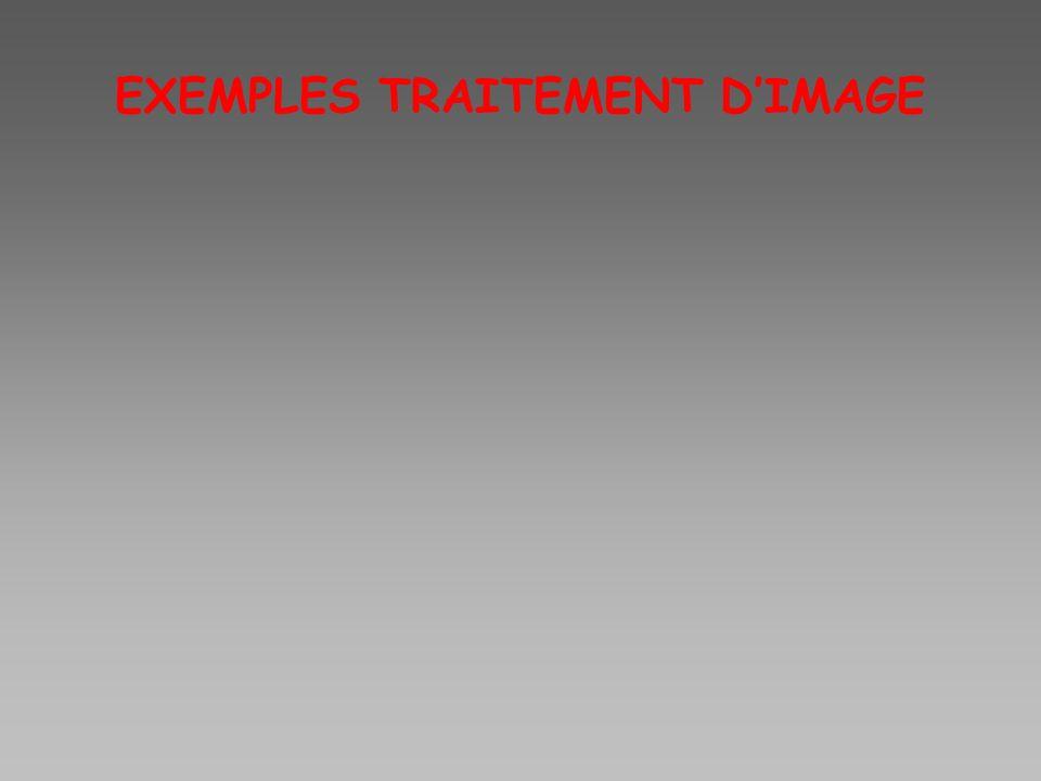 EXEMPLES TRAITEMENT DIMAGE