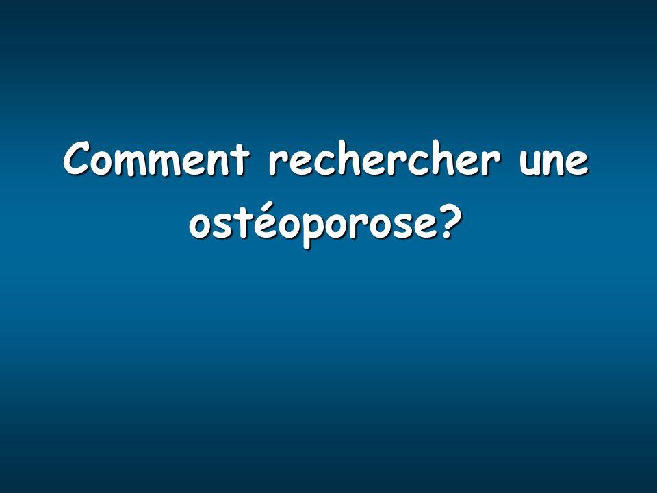 Comment rechercher une ostéoporose?