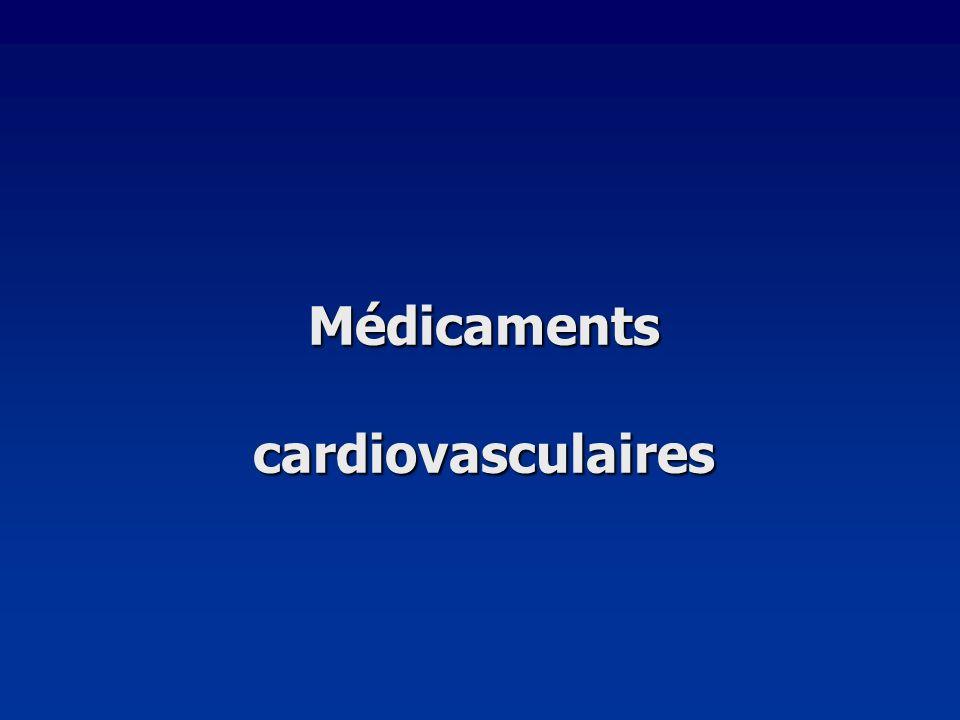 Médicaments cardiovasculaires